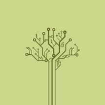 digital tree illustration.