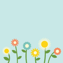 vector illustration of pretty flowers in bloom.
