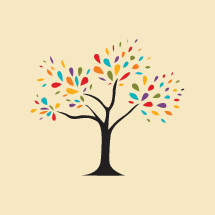 colorful tree icon