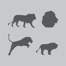 lion silhouettes.