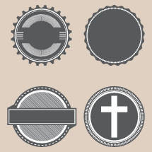 vintage church badges