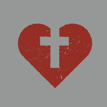 cross in a heart