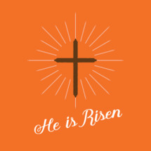 He is Risen and cross