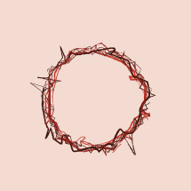 hand drawn crown of thorns