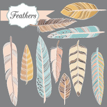 feathers icon set