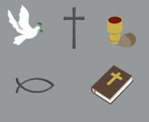 Christian, Christianity, Bible, cross, Jesus fish, dove, holy spirit, communion, religious, vector, graphics, religion