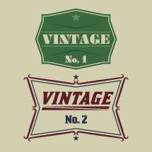 vintage No. 1, vintage No, 2, sign, plague