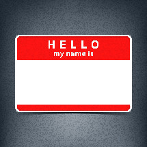 Hello Name Badge