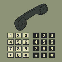 telephone and numbers