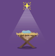 This is a simple illustration of baby Jesus in the manger. Perfect for any reminder for Christmas time.