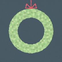hanging Christmas wreath