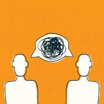 Argument concept illustration.