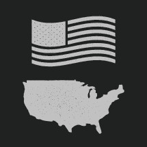 US Flag and United states illustrations.