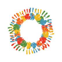 hand prints circle
