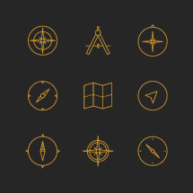 compass and maps icons