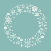 Christmas snowflake wreath