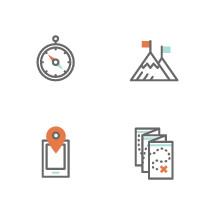 modern adventure icons.