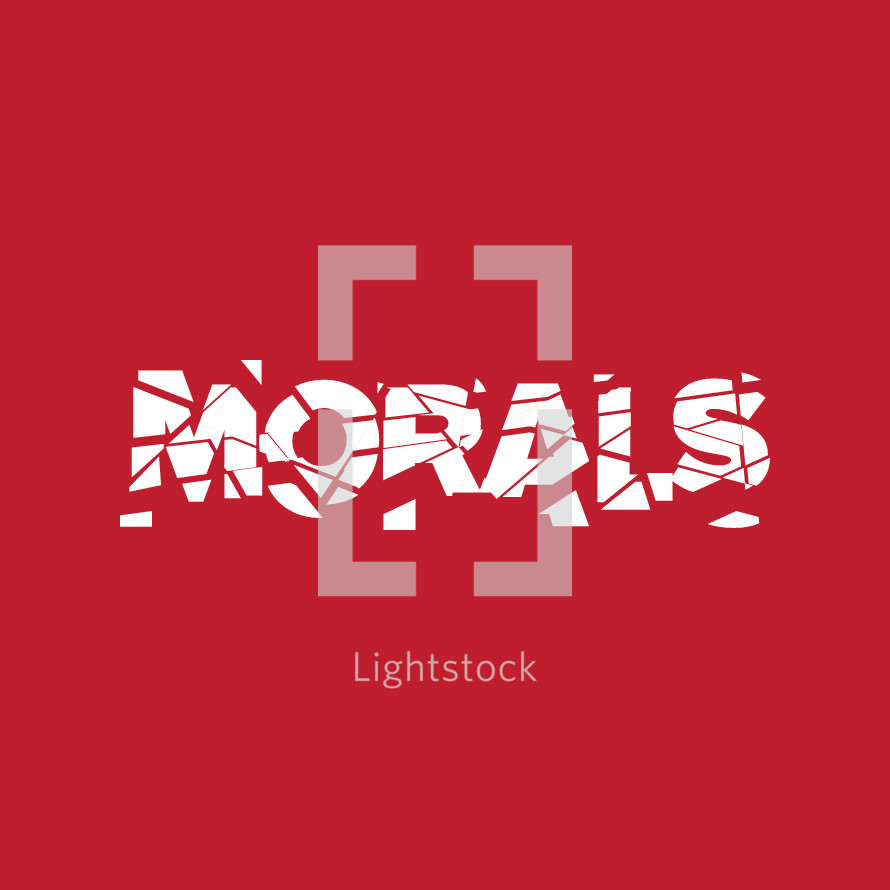 shattered morals typography