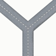 illustration of a fork in the road.