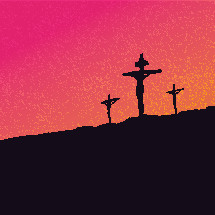 Jesus on the cross at Calvary