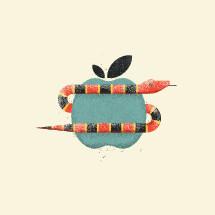 serpent around an apple