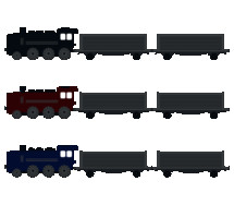 train engine with cars