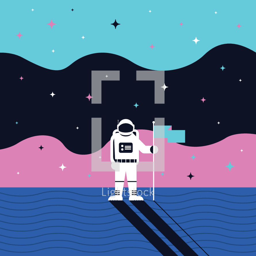 astronaut on a new planet