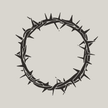 crown of thorns illustration.