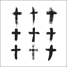 vector brush stroked crosses pack.