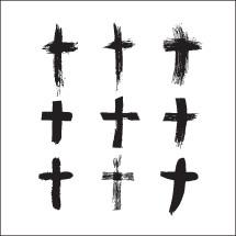 vector brush stroked crosses pack.