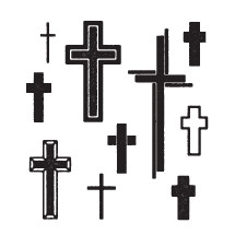 set of grunge cross illustrations.