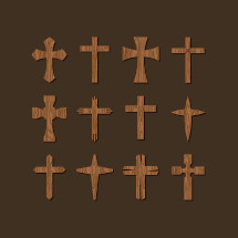 wooden crosses icons