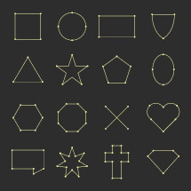 shapes, points, and lines elements.