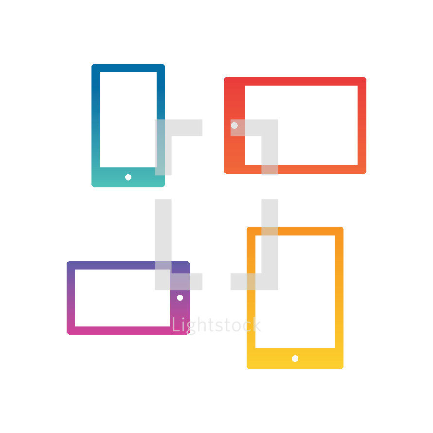 mobile phone and tablet icons.