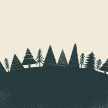 Christmas trees illustration.