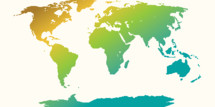colorful world map vector.