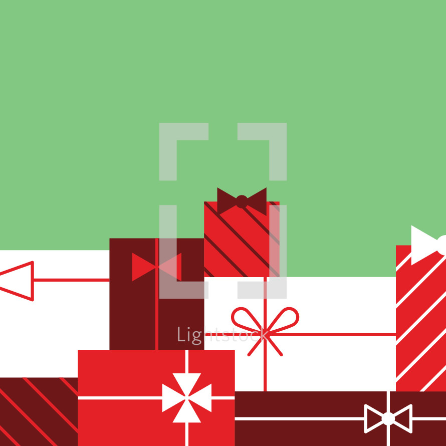 Christmas gifts icon border