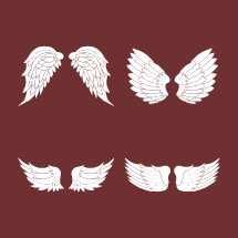Four pairs of angel wings.