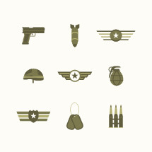 military icons.
