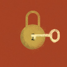 lock and key illustration.