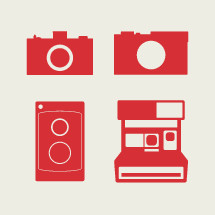 vintage cameras illustrations.
