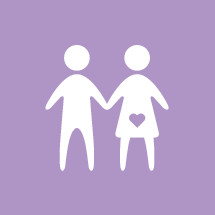 simple illustration of couple expecting child.