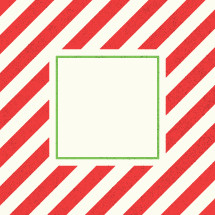 red and white vertical stripes and frame