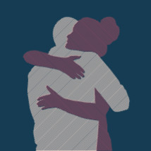 couple hugging silhouette