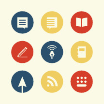 blog icon set.