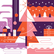 abstract Christmas morning vector