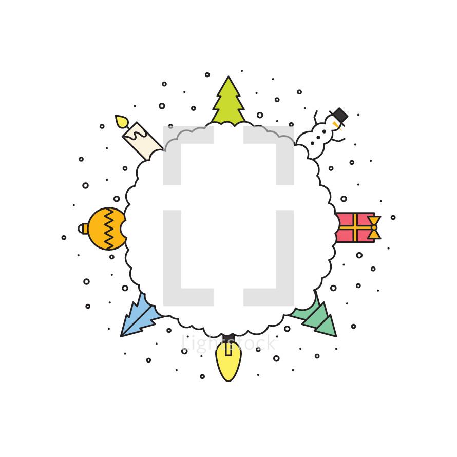 Christmas badge.