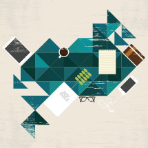 Abstract Bible study graphic,