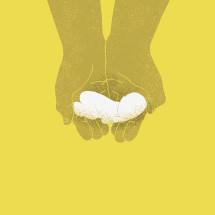 cradling hands holding an infant