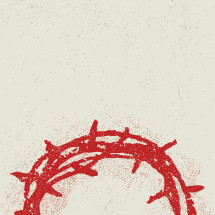 crown of thorns hand drawn